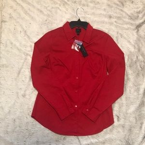 Red Worthington Button Down Shirt